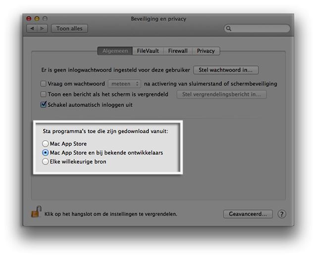 Mac Gatekeeper aanpassen voor GnuCash